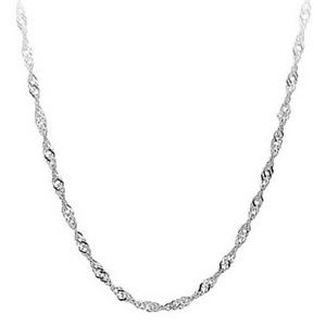 925 Stamped Sterling Silver Wavy Rope Chain